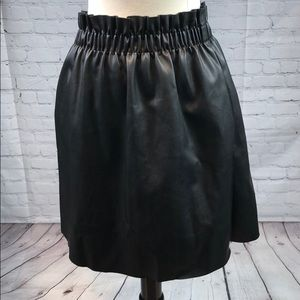 Zara Faux Leather Skirt With Pockets